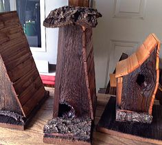 whimsical #reclaimed #wood #birdhouses