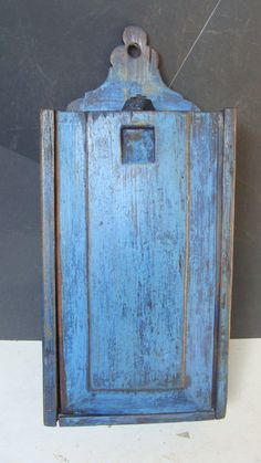 18th or Early 19th C Slide Lid Wall Hanging Candle Box Original Blue Paint Sold Ebay 575.00