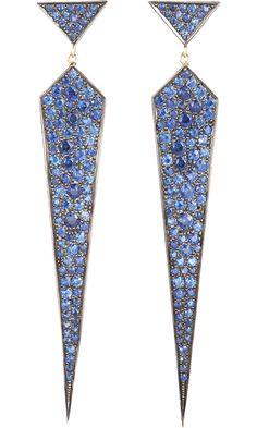 Finn Blue Sapphire Dagger Earrings