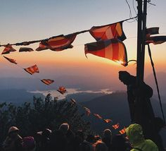 The view from Adam's Peak in Sri Lanka at sunrise where Digital News Editor Katie O'Malley (@omalley_katie) climbed 2243m to get to the top  a spot in Buddhist tradition believed to be the footprint of the Buddha. (The world's best #travel destinations tried and tested by #teamELLE curated by Travel & Lifestyle Director @swdtravel/@the_explored.) (: @omalley_katie) #ELLEexplore #SriLanka #AdamsPeak  via ELLE UK MAGAZINE OFFICIAL INSTAGRAM - British Fashion Campaigns  Haute Couture…