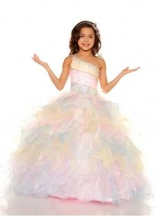 4d91abe94 Organza Pink Ball Gown Girls Pageant Dress Pagent Dresses For Kids, Little Girl  Dresses,