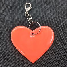 Heart shape  Reflective pendant student school bag accessories reflective keyrings for visible safety