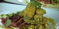 Flank Steak Salad with Avocado Frites and Avocado Aioli