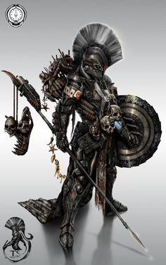 This heavily laden warrior provided some inspiration for the Myrmidons, and also for the Northmen