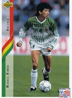 RARE 1994 UPPER DECK WORLD CUP SOCCER MIGUEL RIMBA BOLIVIA TEAM MINT