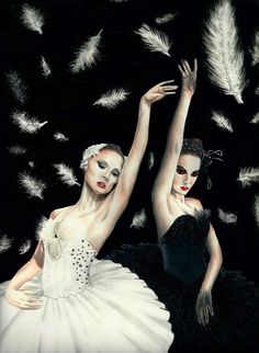 Swan Lake- Odette the White Swan and Odile the Black Swan