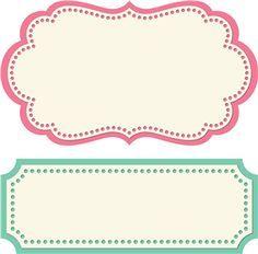 Label Shape Templates | Label Shape Template 2 label shapes by lori