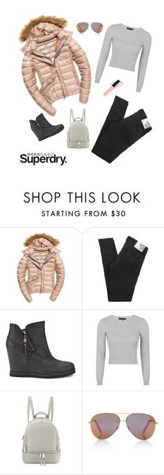 """""""The Cover Up – Jackets by Superdry: Contest Entry"""" by juliet-elizabeth-george ❤ liked on Polyvore featuring Superdry, Fuji, Henleys, UGG Australia, Topshop, MICHAEL Michael Kors, Victoria, Victoria Beckham and Butter London"""