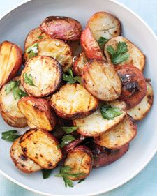 The grill gives the boiled potatoes just the right amount of crispness, plus a deliciously smoky flavor. Add garlic, and this dish becomes the surprise hit of the menu: really simple, and really good.
