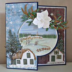 Art Impressions, Marianne Design, Winter Cards, Cardmaking, Christmas Cards, Scrapbook, Mandala, Frame, Fun