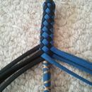 Paracord whip   - oooooh! with monkey fists packing some ball bearing heat for a cat o nine tails!