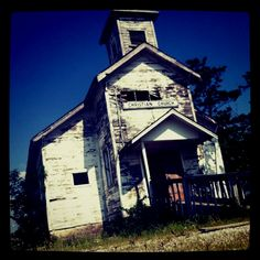 Creepy old church in (what's left of) Picher, OK.