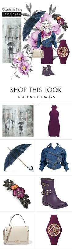 """""""Keep calm"""" by sincerelyours-design ❤ liked on Polyvore featuring Leftbank Art, Cinq à Sept, Black, Alaïa, 1928, Colors Of California, Anya Hindmarch, Ice-Watch, vintage and floral"""