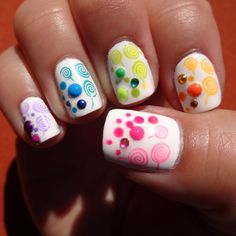 Candy Nail Art. Bundle Monster stamp (BM02) with stud and crystal details. #nailart