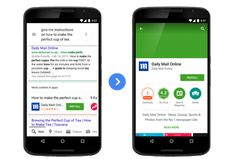 Google's Mobile Search Results On Android Now Prompt Users To Install Apps With Relevant Content | TechCrunch