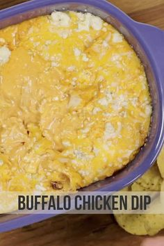 Buffalo chicken has never looked so good. | These 6 Dips Will Change Your Life