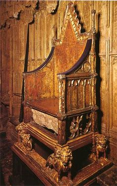 The Stone of Scone (aka the Stone of Destiny or The Coronation Stone). In 1296 the Stone was captured by Edward I as spoils of war and taken to Westminster Abbey, where it was fitted into a wooden cabinet in King Edward's Chair ~ England's throne. In 1996, in a symbolic response to growing dissatisfaction among Scots at the prevailing constitutional settlement, it was decided that the Stone should be returned to Scotland with the provision that it be returned for use in subsequent…
