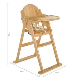 Mothercare Valencia Wooden Highchair - Natural
