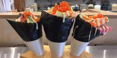 Sushi cones from Uma Temakeria in NYC