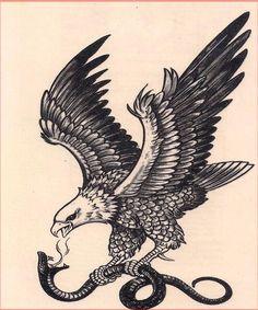 Black and white eagle killing a snake tattoo design - -. - Black and white eagle killing a snake tattoo design – -… – black and white eagle kill - Simbolos Tattoo, Tattoos 3d, Tribal Sleeve Tattoos, Eagle Tattoos, Wolf Tattoos, Animal Tattoos, Black Tattoos, Body Art Tattoos, Tattoo Drawings