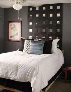 Tête de lit avec miroirs MALMA IKEA.