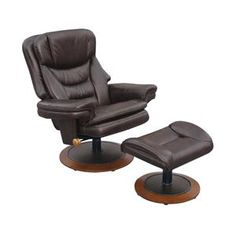Hot Buy! Swivel Recliner with Ottoman in Toast Brown | Nebraska Furniture Mart