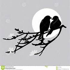 Two Birds Kissing Shape Template