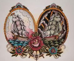 Sailor theme tattoo design. #tattoo #tattoos #ink