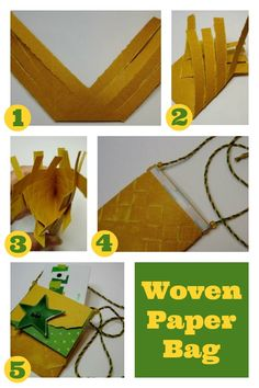 Woven Paper Bag by Alison Irwin 2019 Free pattern! This kid-friendly weaving project is fun and easy. Give it a try today! The post Woven Paper Bag by Alison Irwin 2019 appeared first on Weaving ideas. Weaving For Kids, Hand Weaving, Small Paper Bags, Weaving Projects, Loom Knitting, How To Introduce Yourself, Fiber Art, Free Pattern, Easy