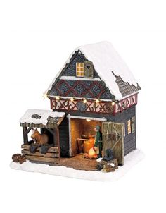 Christmas Villages, Christmas Home, Christmas Crafts, Department 56 Christmas Village, Seaside Village, Blacksmithing, Miniatures, Rustic, House Styles