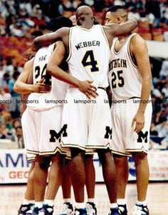 Fab Five - Chris Webber, Jalen Rose, Juwan Howard, Jimmy King and Ray Jackson