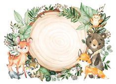 Woodland Forest, Woodland Theme, Woodland Baby, Woodland Creatures, Woodland Animals, Baby Icon, Baby Animals, Wild Animals, Baby Scrapbook