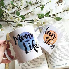 Game Of Thrones Mug Gift Set - Khaleesi and Drogo themed mugs - Moon - Sun and…