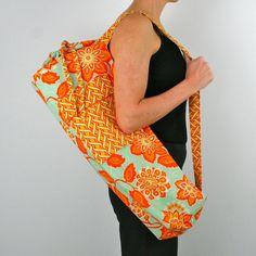 Yoga Mat Bag by shantidesigns on Etsy