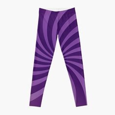 'Purple Abstract Pinwheel Design' Leggings by CreatedProto Best Leggings For Work, Best Christmas Gifts, Pinwheels, Workout Leggings, Artwork Prints, Fun Workouts, Knitted Fabric, Chiffon Tops, Knitting