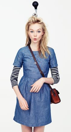 #Madewell Chambray Songbird Dress
