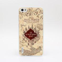 6851-OIE Harry Potter Marauders Map1 Hard Case Cover for Huawei P6 P7 P8 Lite P9 Lite Plus & Honor 6 7 4C 4X G7