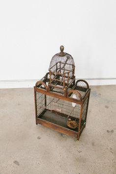 Vintage Victorian bird cage