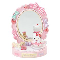 Hello Kitty mini stand mirror (Strawberry) Sanrio online shop - official mail order site
