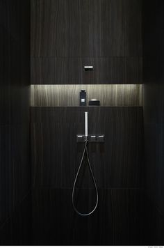 first Armani Hotel unveiled in Burj Khalifa, Dubaiis free HD Wallpaper. Thanks for you visiting first Armani Hotel. Bathroom Niche, Shower Niche, Bathroom Toilets, Bathroom Interior, Master Bathroom, Bathroom Lighting, Shower Lighting, Washroom, Hidden Shower