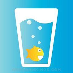 Drink Water Aquarium App Reviews & Download - Health & Fitness App Rankings! Drink More Water, Water Me, Water Reminder, Health And Fitness Apps, Different Fish, Cute App, Fish Swimming, Little Fish, Best Apps