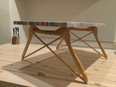 DIY table legs from hangers!