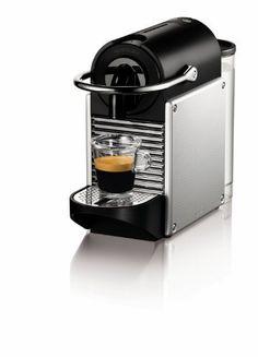 Nespresso Pixie Espresso Maker, Aluminum - http://teacoffeestore.com/nespresso-pixie-espresso-maker-aluminum/