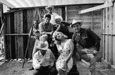 Marilyn Monroe, Clark Gable, Montgomery Clift, Arthur Miller, John Huston and Eli Wallach, 'The Misfits', 1960