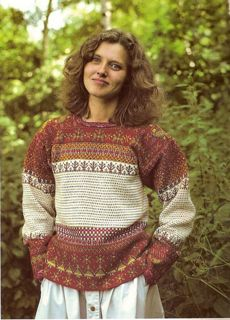 Traditional Finn-Swede Korsnäs sweater from west coast of Finland. Both crocheted and knitted. Fair Isle Knitting, Hand Knitting, Knitting Patterns, Fair Isle Pattern, Textiles, Sweater Weather, Christmas Sweaters, Knitwear, Knit Crochet