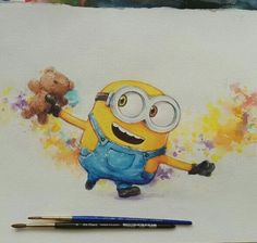 Minion watercolor