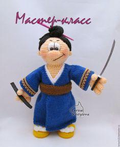 МК Самурай - купить или заказать в интернет-магазине на Ярмарке Мастеров - 2QLGTRU. Миасс | Описание вязания игрушки - файл в формате PDF,…