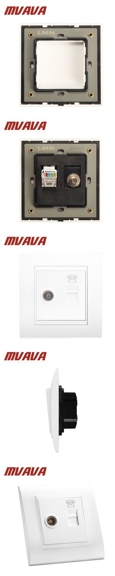 MVAVA Universal Electrical Telephone And Television Wall Socket Luxury Double Port  TV Aerial Socket +  RJ11 TEL Wall Outlet
