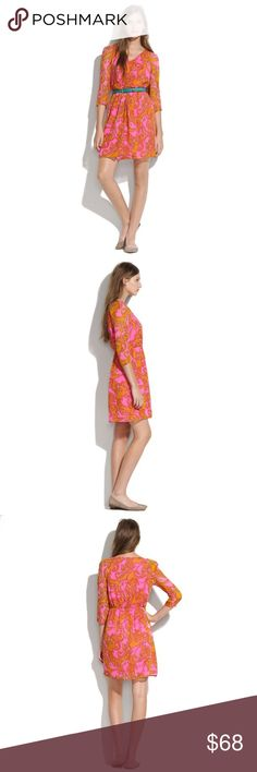 Madewell Silk Paisley Dress size 4 $165 NWT 🦄 Size 4. Broadway & Broome from Madewell. Originally $165. NEW WITH TAGS. Gorgeous paisley print & vibrant colors!! #boho #hippie 🦄 Madewell Dresses