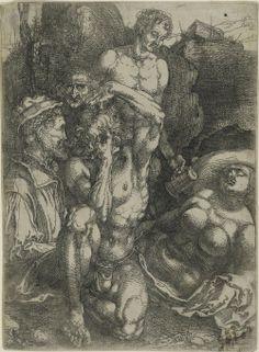 Estudio de cinco cifras Albrecht Dürer, alemán, 1471 - 1528 Geografía: Hecho en Nuremberg, Baviera, Alemania, Europa Fecha: c. 1515 Medio: Grabado con el tono de la placa Philadelphia Museum of Art